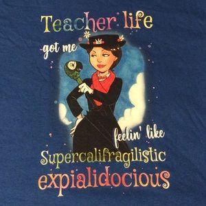 NWOT Mary Poppins Teacher Tee